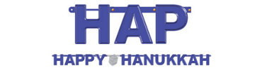 Happy Hanukkah Letter Banner 5 1/4ft