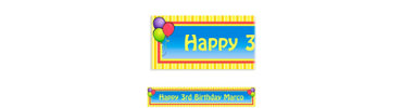Balloons & Stripes Custom Banner 6ft