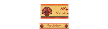 Turkey Dinner Custom Banner 6ft