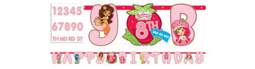 Add an Age Strawberry Shortcake Letter Banner 10ft