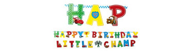 Cars 1st Birthday Banner Combo Pack 2pc
