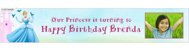 Cinderella Fantasy Custom Photo Banner 6ft