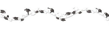 White Wire Graduation Garland 12ft