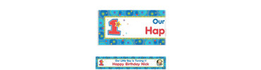 One-derful Birthday Boy Custom Photo Banner 6ft