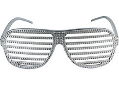 Rhinestone Slotted Glasses