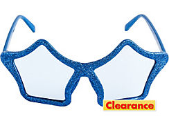 Glitter Blue Star Glasses