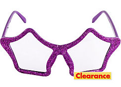 Glitter Purple Star Glasses
