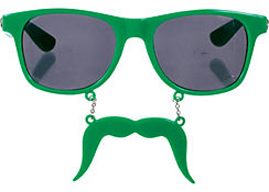Green Handlebar Sun-Staches