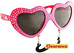 Pink Heart Sun-Stache