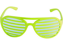 Neon Green Slotted Shades