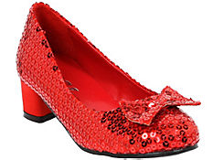 Girls Red Sequin Shoes