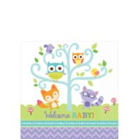 welcome baby party supplies woodland party city