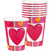 Candy Hearts Valentines Day Cups 8ct