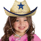 Child Straw Sheriff Hat