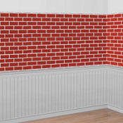 Deck the Walls Red Brick Room Roll 40ft