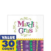 Mardi Gras Celebration Beverage Napkins 30ct