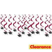 Berry Hanging Swirl Graduation Decorations 24in 15ct
