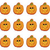 Smiling Pumpkin Icing Decorations 12ct