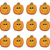 Smiling Pumpkin Icing Decorations 12ct