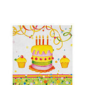 Birthday Cake Beverage Napkins 20ct