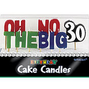 Oh No the Big 30 Birthday Toothpick Candles 11ct