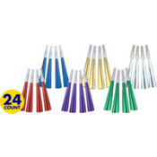Colorful Foil Party Horns 24ct