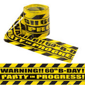 Party Scene Warning Tape 60th Birthday