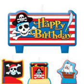 Pirate's Treasure Mini Cake Candles 6ct