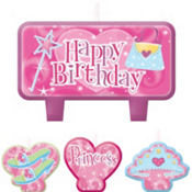 Princess Mini Cake Candles 6ct