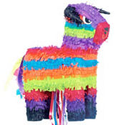 Pull String Bull Pinata 15in