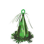 Green Party Hat Balloon Weight 6oz