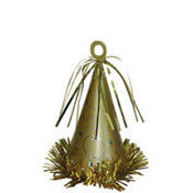 Gold Party Hat Balloon Weight