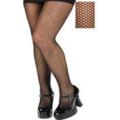 Adult Black Fishnet Pantyhose Plus Size