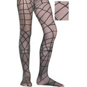 Adult Black Spider Web Pantyhose