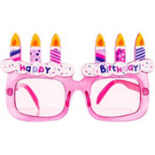 Pink Happy Birthday Sunglasses