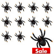 Black and Orange Tip Spider Value Pack 36ct