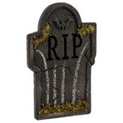 Mossy Bat Tombstone Decoration 22in