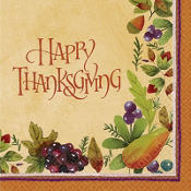Thanksgiving Medley Lunch Napkins 16ct