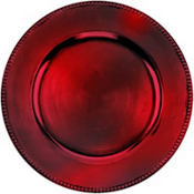 Burgundy Round Charger 14in