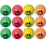 Smile Bounce Balls 12ct