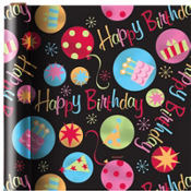 Neon Dot Birthday Gift Wrap