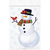 Resealable Snowman Party Bags 6in x 4in 12ct