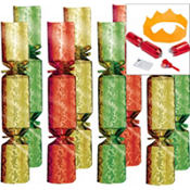 Medium Foil Christmas Crackers 8ct