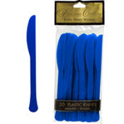 Royal Blue Premium Plastic Knives 20ct