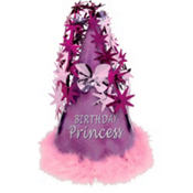 Purple Marabou Birthday Princess Party Hat
