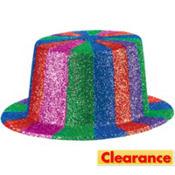 Multicolor Glitter Top Hat
