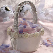 Ivory Wedding Flower Basket