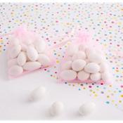 Pink Organza Baby Shower Favor Bags 12ct