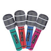 Inflatable Microphones 4ct