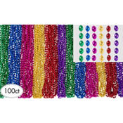 Multicolor Beads Bucket 30in 120ct